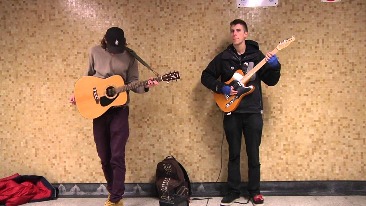Daniel Doyan and Ben Evans Busking in Montreal Subways