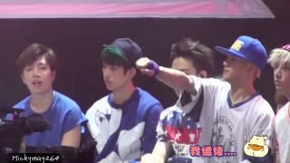 "150811 NetEase Music Battle - GOT7 Reaction to 4Minute ""Crazy"" (Junior Focus)"