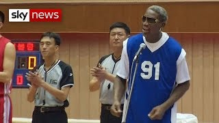 Rodman Plays and Sings in (North Korea)  1/8/14