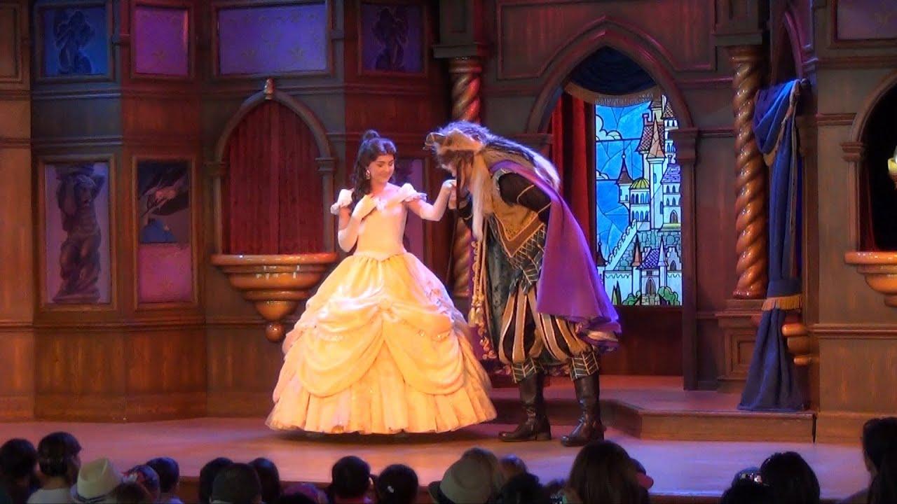 beauty and the beast at disneyland fantasy faire royal