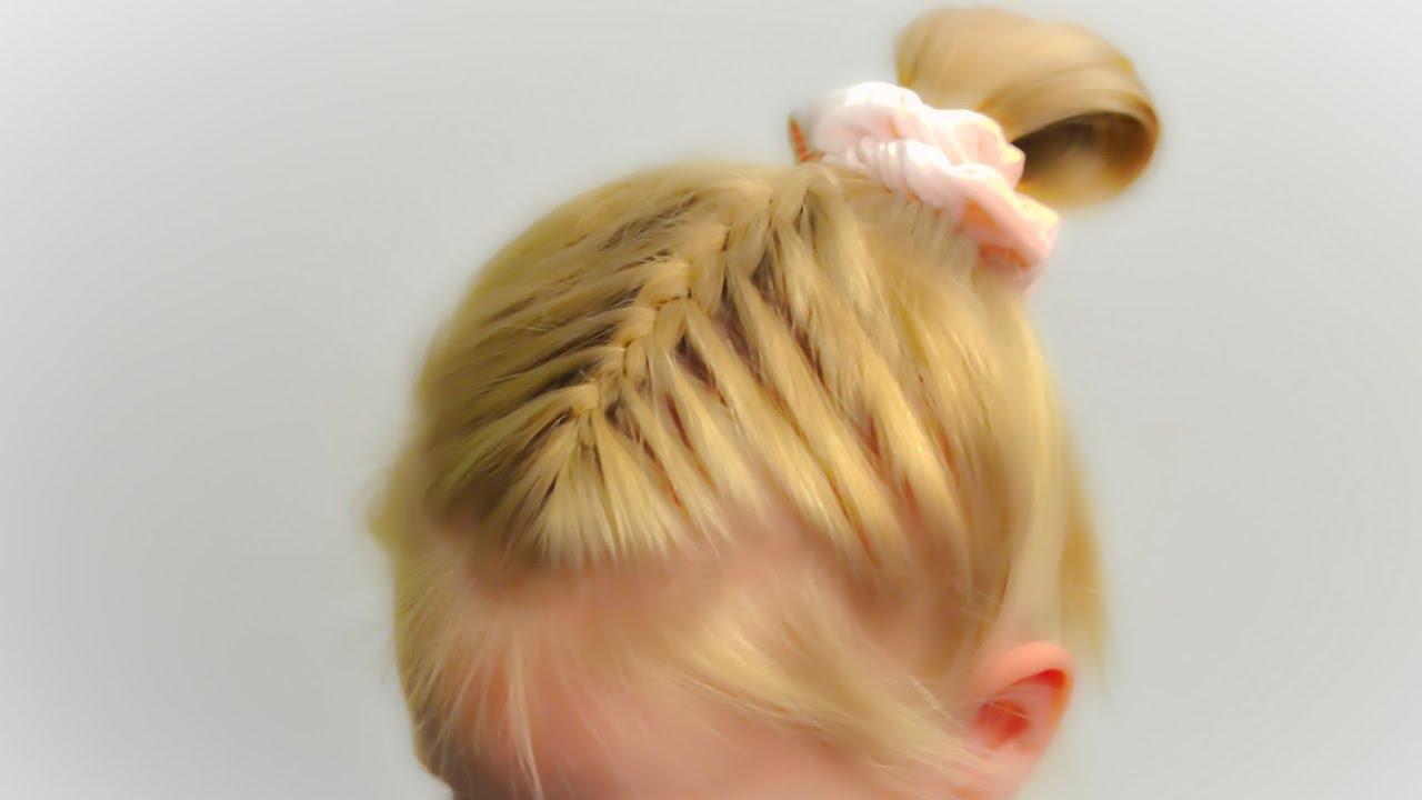 Маленькие резинки для волос прически