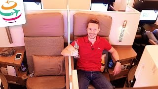 Etihad Business Class A380 (Brandneu) Flug Erfahrung Bericht Report Deutsch | GlobalTraveler.TV