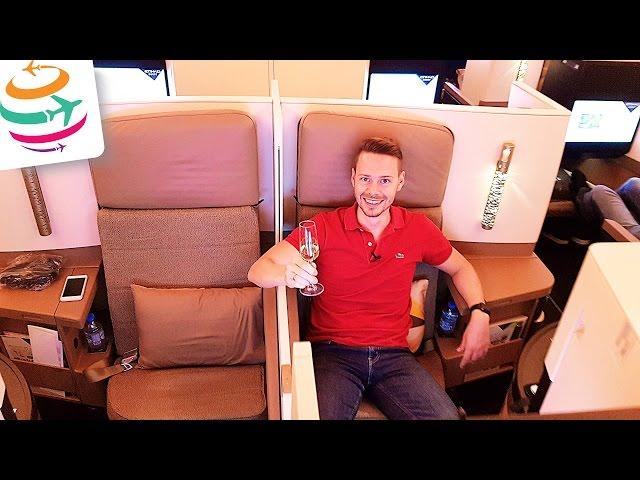 Etihad Business Class A380 (Brandneu) Flug Erfahrung Bericht Report Deutsch   GlobalTraveler.TV