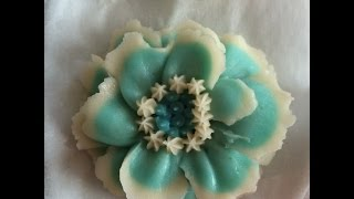 How to make scabiosa flower from korean bean paste