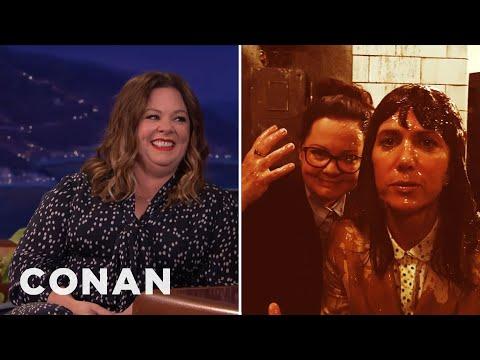 Melissa McCarthy Was Delighted When Kristen Wiig Got Slimed  - CONAN on TBS