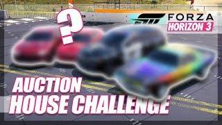 Forza Horizon 3 - Auction House Challenge! (Mini Games & Random Fun)