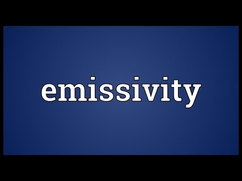 Header of emissivity