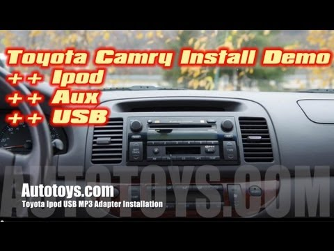 toyota camry ipod iphone usb aux mp3 interface installation by grom audio by autotoys com how. Black Bedroom Furniture Sets. Home Design Ideas