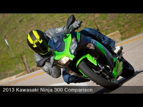 MotoUSA Comparison: 2013 Kawasaki Ninja 300 Video