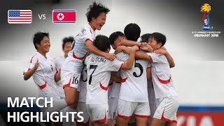 USA v Korea DPR  - FIFA U-17 Women's World Cup 2018™ - Group C