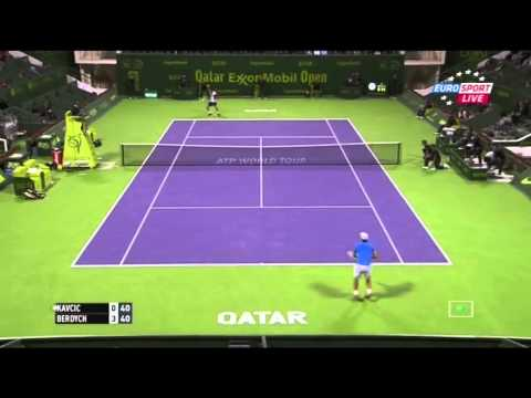 Tomas Berdych vs Blaz Kavcic- Doha 2015 R2 Highlights [720p]