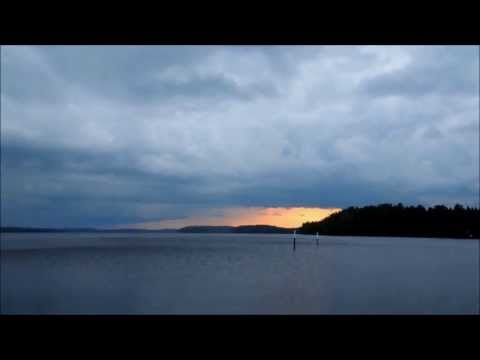 Thunderstorm  3 min time lapse on Lake Saimaa Finland