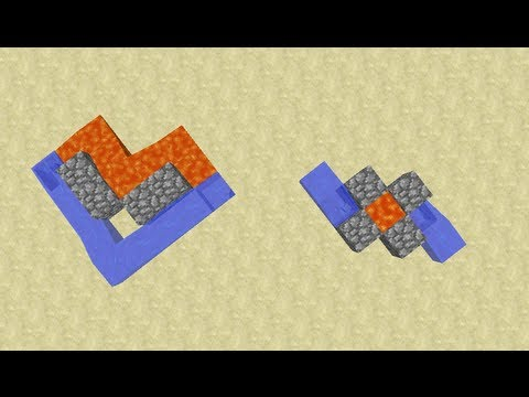 Quad Cobblestone Generators -- Minecraft Tutorial