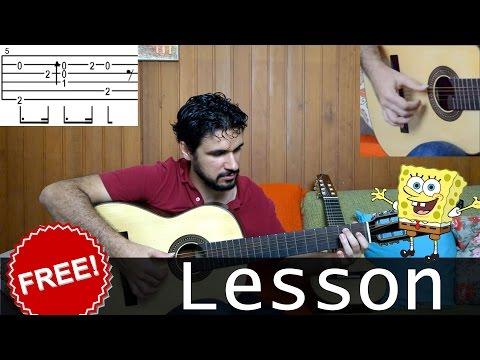 Fingerstyle Tutorial: SpongeBob (Full Lesson)