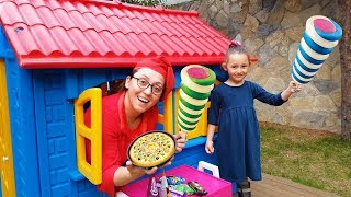 Öykü play house bought Ice cream, Funny video for kids, Oyuncak Avı