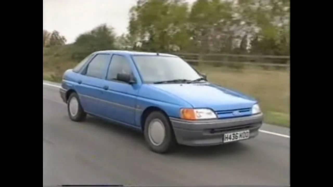 Old Top Gear 1990 Ford Escort Youtube