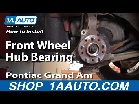 How To Install Replace Front Wheel Hub Bearing GM Front Wheel Drive PART 1 1AAuto.com