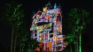 Christmas Things At Disney's Hollywood Studios! | Holiday Projection Show, Fireworks & More!