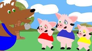 Os 3 Porquinhos Desenho Animado - Historia Infantil - Rafa Toys and Fun Contos