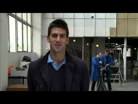 Novak Djokovic vs. Tennis Machine Video
