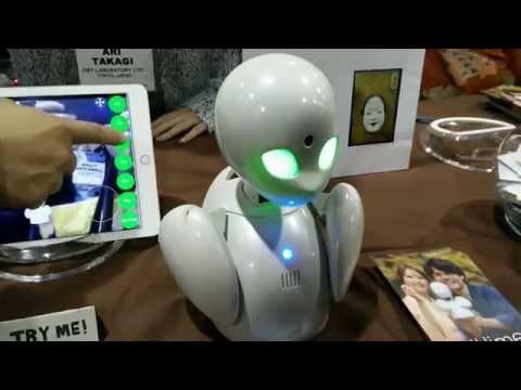 CES 2015 – OriHime personal avatar robot demonstration – ShinyShiny