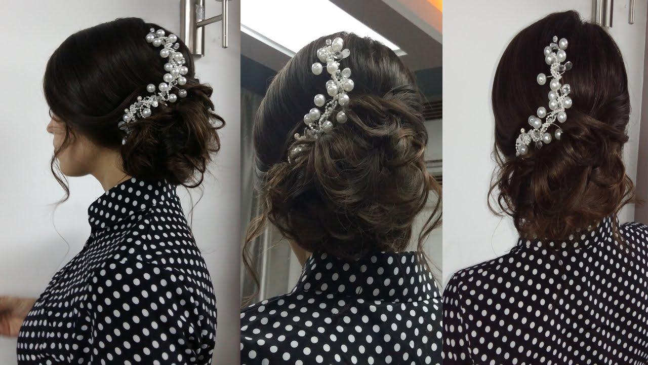 Причёски на выпускной на средние волосы своими руками