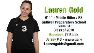 Lauren Gold - Class of 2018 - Volleyball Skills Video