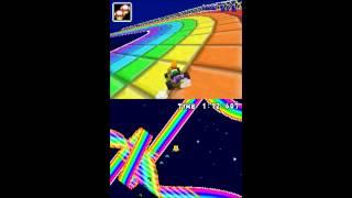Mario Kart DS N64 Circuit New Rainbow Road Texture Improvements