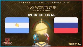 MUNDIAL AOE - 8vos de Final - ARGENTINA (Nicov + Twigg) vs RUSIA (Vinchester + Dench)