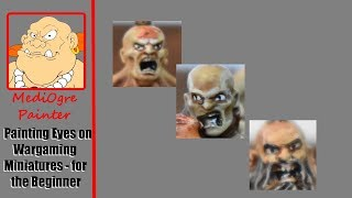Painting Eyes on Wargaming Miniatures - for the Beginner