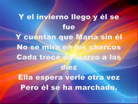 María-La Oreja De Van Gogh (letra)