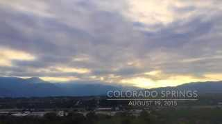 Time-lapse of Colorado Springs Sunset