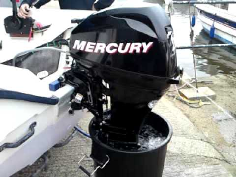mercury 20hp 4 stroke outboard on terhi microfun