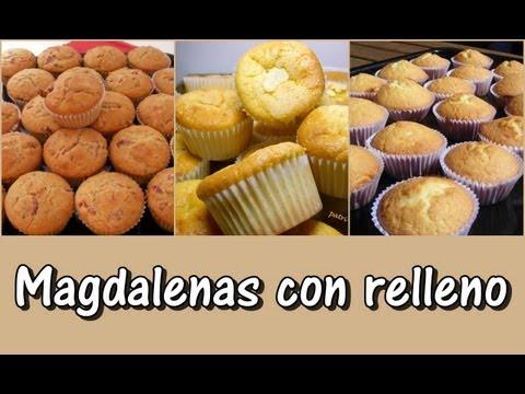 Receta básica de Magdalenas con relleno ( Cupcakes)