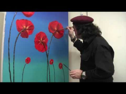 Using Poppy Oil Painting