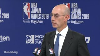 NBA's Silver Says China Issue `May Not Die Down So Quickly'