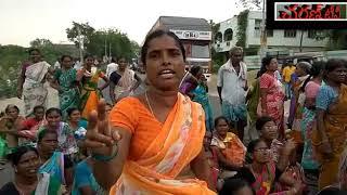 Employment Guarantee Workers Dharna in Chavellam Mandala Center
