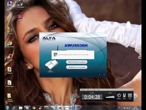Como instalar alfa network awus036h