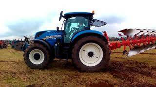 2018 New Holland T7.230 6.7 Litre 6-Cyl Diesel Tractor (180/225HP) With Kuhn Reversible Plough