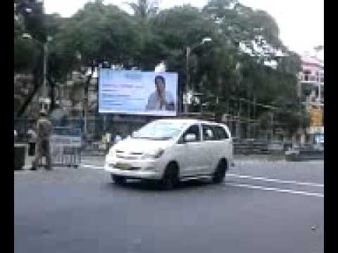 INDIAN President MR Pranab Mukherjee Motorcade, kolkata...............