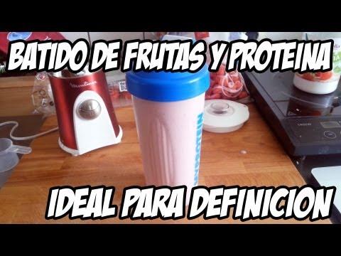 Receta batido frutas, proteínas y bajo en calorías - Ideal dfinición