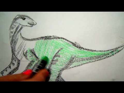 Dinosaurier zeichnen - Tiere malen - to draw dinos