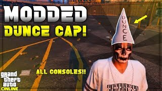 GTA 5 - How to Get MODDED DUNCE CAP *No Badsport* Using Clothing Glitches | (GTA 5 Clothing Glitch)