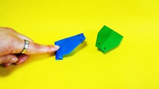 쉬운 개구리두꺼비 종이접기 How to Make a Paper frog Easy Tutorial Origami Jump toad