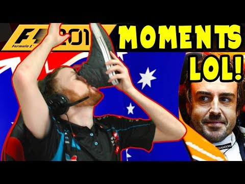 Best Funny Stream Moments on F1 2017 with SpotTheOzzie