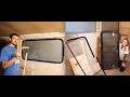 Bus Conversion Tiny House #34 RV Window Installation Part 1