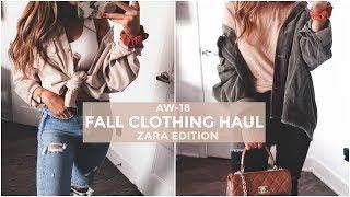 FALL CLOTHING HAUL - ZARA EDITION | 2018