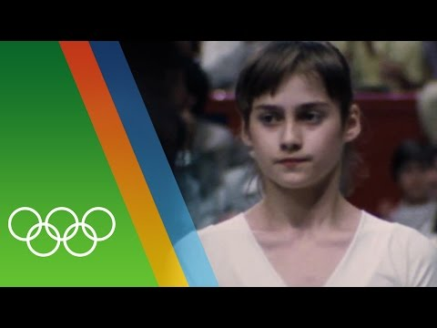 Nadia Comaneci's perfect 10   Epic Olympic Moments