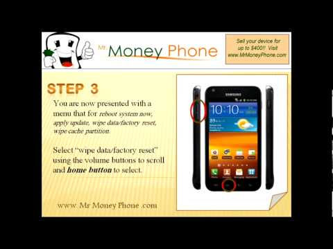 HARD RESET Samsung Galaxy S II Epic 4G SPH-D710 (external) (RESTORE to FACTORY condition) Video
