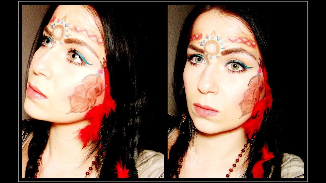 Karneval: Indianer / Pocahontas - Native American Princess Tutorial ...